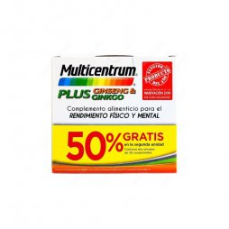 Multicentrum Plus Ginseng/Ginkgo 2ªud 50% 30 + 30