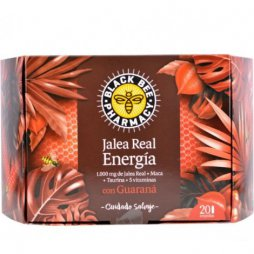 Jalea Real Black Bee Energía 20 Ampollas